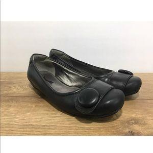 Ecco Women's Slip On Button Toe Wedge Size 35 -P14